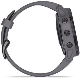 Garmin Fenix 6S Pro Solar GPS Smartwatch amethyst steel/shale grey